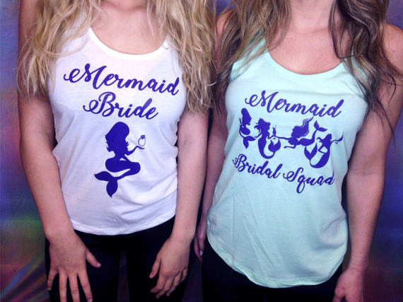 08b4120deb43 9 Cute Shirts for Your Mermaid Themed Bachelorette Party - The Swag ...